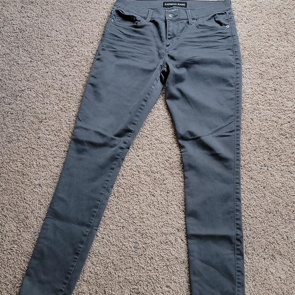 EXPRESS legging jeans size 8L. Gray